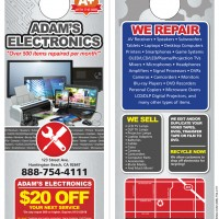 Adams Electronics Promotional Doorhanger