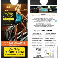 Golds Gym 50 Years Legacy Doorhanger