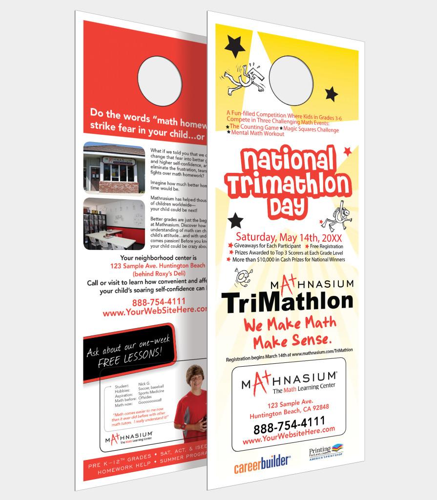 Mathnasium Doorhanger  sc 1 st  Front Door Advertising & Door Hangers