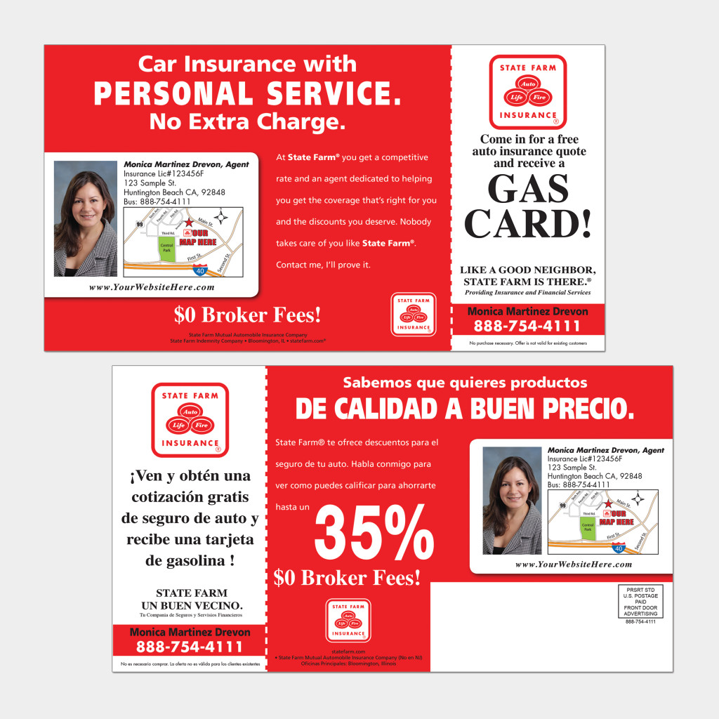 State Farm Insurance Quotes Direct Mail Postcards