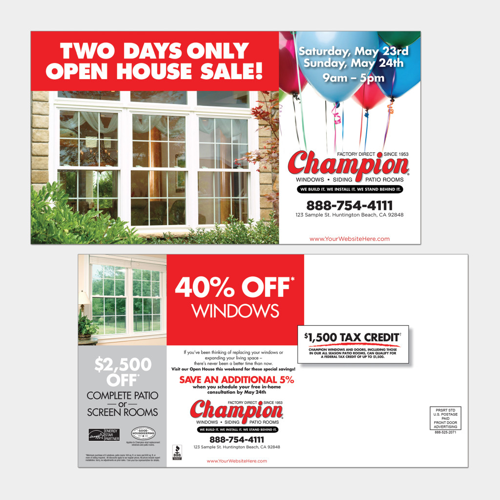 Direct mail postcards call front door advertising to start your campaign altavistaventures Gallery